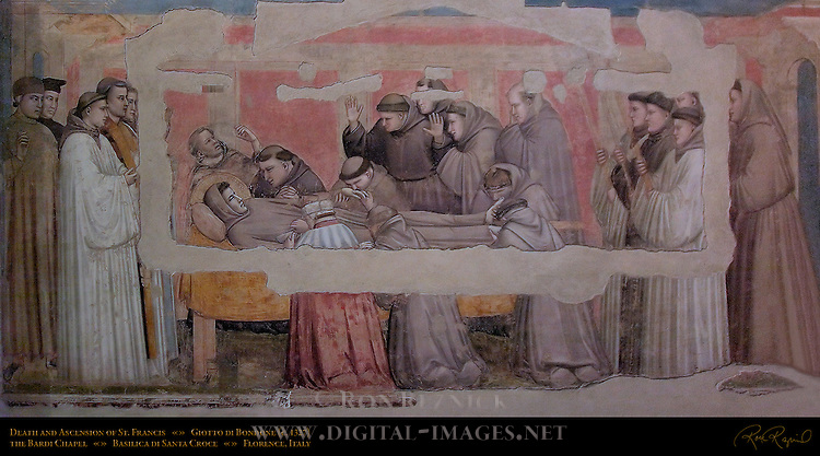Death and Ascension of St Francis Giotto di Bondone 1325 Bardi Chapel Santa Croce Florence