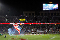 STANFORD, CA - October 8, 2016: Atmosphere at Stanford Stadium. The Washington State Cougars defeated the Cardinal 42-16.
