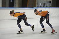 SCHAATSEN: LEEUWARDEN: 28-09-2016, Elfstedenhal, training, Ireen Wust en Konrad Niedzwiedsi, ©foto Martin de Jong