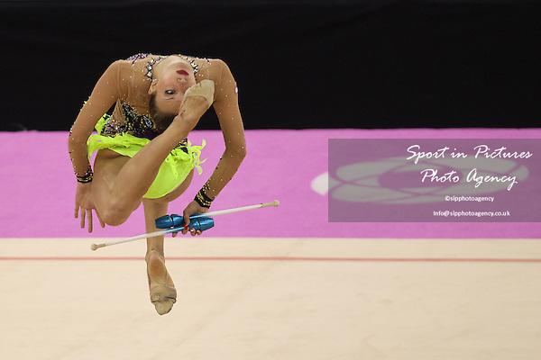 Natascha Wegscheider (AUT). Women's Rhythmic Gymnastics. National Gymnastics Arena. Baku2015. 1st European Games. Baku. Azerbaijan. 19/06/2015. MANDATORY CREDIT Dan Chesterton/SIPPA - NO UNAUTHORISED USE - +447837 394578