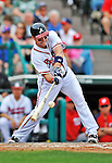 6 March 2012: Atlanta Braves outfielder Matt Diaz in action during a Spring Training game against the Washington Nationals at Champion Park in Disney's Wide World of Sports Complex, Orlando, Florida. The Nationals defeated the Braves 5-2 in Grapefruit League action. Mandatory Credit: Ed Wolfstein Photo
