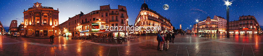 Montpelier France Old City Plaza Shopping CGI Backgrounds, ,Beautiful Background