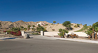 Entry to large desert private estate