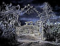 Graveyard on movie set