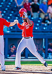 28 February 2017: Washington Nationals outfielder Michael Taylor crosses home plate after hitting a walk-off, game winning home run in the 9th inning of the inaugural game against the Houston Astros at the Ballpark of the Palm Beaches in West Palm Beach, Florida. Mandatory Credit: Ed Wolfstein Photo *** RAW (NEF) Image File Available ***