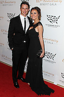 BEVERLY HILLS, CA, USA - MARCH 29: Matt Lanter, Angela Stacy at The Humane Society Of The United States 60th Anniversary Benefit Gala held at the Beverly Hilton Hotel on March 29, 2014 in Beverly Hills, California, United States. (Photo by Xavier Collin/Celebrity Monitor)