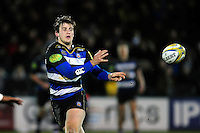 Max Clark of Bath United passes the ball. Aviva A-League match, between Bath United and Wasps A on December 28, 2016 at the Recreation Ground in Bath, England. Photo by: Patrick Khachfe / Onside Images