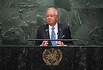 His Excellency Dato&rsquo; Sri Mohd Najib Tun Abdul Razak, Prime Minister of Malaysia  <br /> General Assembly Seventieth session 9th plenary meeting: High-level plenary meeting of the (6th meeting)