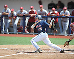 Mississippi's Andrew Mistone (25) vs. Arkansas at Oxford-University Stadium in Oxford, Miss. on Sunday, April 22, 2012. Arkansas won 11-3.