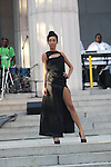 """Model wearing the Thomas Lavone Collection by Thomas Lavone at """"A Great Day In Harlem"""" Urban Fashion Fusion Showcase, NY 7/25/10"""