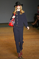 Alana Zimmer walks runway in an outfit from the Marc by Marc Jacobs Fall/Winter 2011 collection, during New York Fashion Week, Fall 2011.
