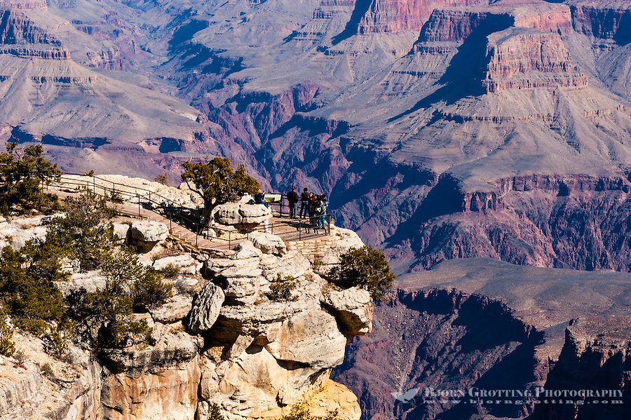 United States, Arizona, Grand Canyon. From Trailview Overlook, the first lookout along the West Rim Drive.