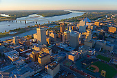 Downtown Memphis and Mississippi River