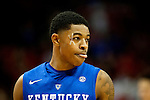 Guard Tyler Ulis of the Kentucky Wildcats looks on during the game against  the Louisville Cardinals at KFC Yum! Center on Saturday, December 27, 2014 in Louisville `, Ky. Kentucky defeated Louisville 58-50. Photo by Michael Reaves | Staff