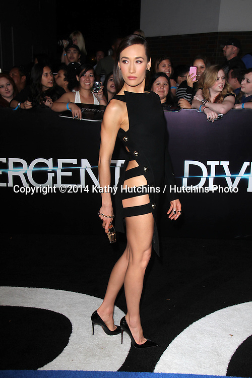 """LOS ANGELES - MAR 18:  Maggie Q at the """"Divergent"""" Los Angeles Premiere at Bruin Theater on March 18, 2014 in Westwood, CA"""