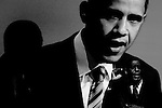 Democratic presidential hopeful Sen. Barack Obama (D-IL) speaks to the American Federation of State, County and Municipal Employees (AFSCME) National Leadership Conference in Washington, DC, on Tuesday, June 19, 2007.