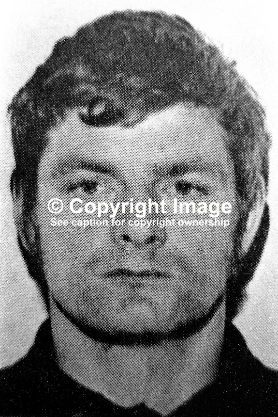Tommy Tolan, aka Tommy Toddler Tolan, 31 years, married, West Belfast, N Ireland, well known Provisional IRA figure and associate of Sinn Fein president, Gerry Adams. Tolan was one of 4 men to die on the same day, 27th July 1977, in a feud between the Provisional IRA and the Official IRA. 19720119001TT.<br /> <br /> Copyright Image from Victor Patterson, 54 Dorchester Park, Belfast, UK, BT9 6RJ<br /> <br /> t: +44 28 90661296<br /> m: +44 7802 353836<br /> vm: +44 20 88167153<br /> e1: victorpatterson@me.com<br /> e2: victorpatterson@gmail.com<br /> <br /> For my Terms and Conditions of Use go to www.victorpatterson.com