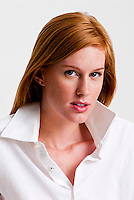 Young red haired woman