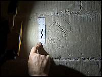 BNPS.co.uk (01202 558833)<br /> Pic: PhilYeomans/BNPS<br /> <br /> 'Jasper' - possibly a portrait of a local 19th century draughtsman.<br /> <br /> Salisbury Cathedral has taken the unusual step of launching 'Grafitti Tours' of it's 800 year old building, as part of a three year project to document the thousands of examples of centuries-old 'graffiti' which adorn the walls of the 13th century cathedral.<br /> <br /> The inside of the Cathedral in Wiltshire is covered in markings etched into its fabric by fervent, desperate or just bored visitors ranging from simple inscriptions to more intricate designs used to ward off evil spirits.  <br /> <br /> Cathedral guide Steve Dunn intends to record all the marks or 'graffiti' which in some cases date back from when the cathedral was completed in 1258.<br /> <br /> Helped by about 60 volunteers, he is collating images of the graffiti and researching the story behind them.