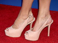 Close up of Christine Taylor's Peep toe shoes at the NY premiere of Madagascar 3: Europe's Most Wanted at the Ziegfeld Theatre in New York City. June 7, 2012. © RW/MediaPunch Inc.