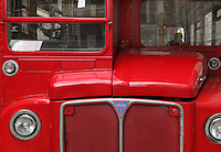 Red RCL (Routemaster Coach Long), double-decker bus of London Transport, London, UK. Picture by Manuel Cohen