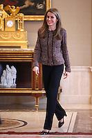Princess Letizia Attend Audiences