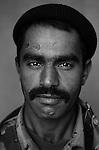 Pvt. Karim Gessed Muhammad, 30, Nasiriyah, Laborer, 4th Co., 2nd Battalion, 7th Division of the Iraqi Army in Haditha, Iraq on Sun. Nov. 27, 2005.