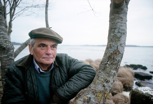 Michel Deon, French writer in 1989 in Ireland.