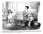 """Molly (bursting into her mother's room). """"Mummy, is it fair? Betty says the doll's house is hers and the rocking-horse is hers and the big swing is hers, and when she's married she's going to take them all; and what I want to know is what are my poor children going to do?"""" (Dissolves into tears.)"""