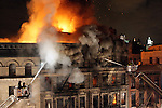 Seven Alarm Fire Destroys Two Buildings and leaves several families homeless in Chinatown, NYC