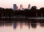 Skyline of the city of Minneapolis as seen over Lake Nokomis