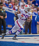 14 September 2014: Buffalo Bills running back C.J. Spiller receives the opening kickoff in the end zone on the first play against the Miami Dolphins at Ralph Wilson Stadium in Orchard Park, NY. The Bills defeated the Dolphins 29-10 to win their home opener and start the season with a 2-0 record. Mandatory Credit: Ed Wolfstein Photo *** RAW (NEF) Image File Available ***