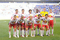 New York Red Bulls starting eleven. The New York Red Bulls and Real Salt Lake played to a 0-0 tie during a Major League Soccer (MLS) match at Red Bull Arena in Harrison, NJ, on October 09, 2010.