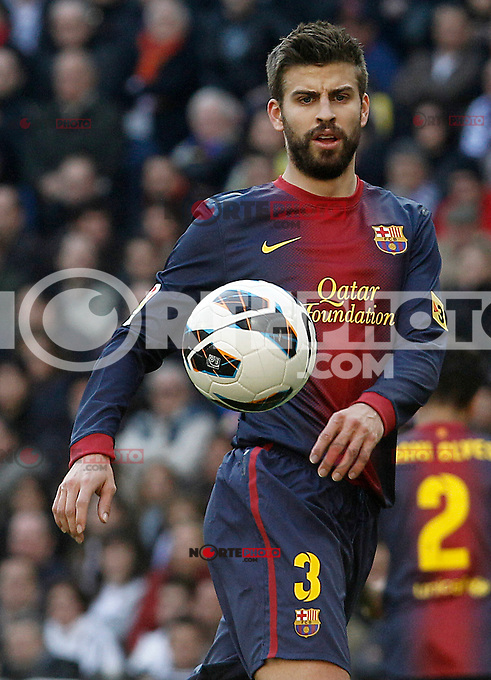 FC Barcelona's Gerard Pique during La Liga match.March 02,2013. (ALTERPHOTOS/Acero) /NortePhoto