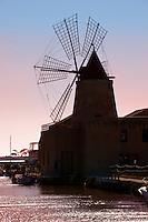 Ettore Infesera windmill, Masala Sicily. travel stock photos