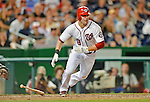 15 June 2012: Washington Nationals second baseman Danny Espinosa in action against the New York Yankees at Nationals Park in Washington, DC. The Yankees defeated the Nationals 7-2 in the first game of their 3-game series. Mandatory Credit: Ed Wolfstein Photo