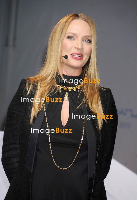 "Uma Thurman at the BMW i ""Born Electric"" World Tour Opening Night Party in New York City. November 12, 2012."