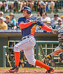 22 March 2015: Houston Astros outfielder George Springer in Spring Training action against the Pittsburgh Pirates at Osceola County Stadium in Kissimmee, Florida. The Astros defeated the Pirates 14-2 in Grapefruit League play. Mandatory Credit: Ed Wolfstein Photo *** RAW (NEF) Image File Available ***