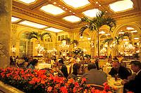 Famous Plaza Hotel atrium restaurant in New York City.