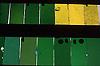 green and yellow mouth blown glass<br /> <br /> vidrio soplado verde y amarillo<br /> <br /> gr&uuml;nes und gelbes mundgeblasenes Glas<br /> <br /> Original: 35 mm slide transparency