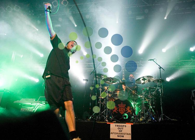 Shikari,English post-hardcore band from St. Albans, Hertfordshire, play ABC Glasgow.Picture Johnny Mclauchlan/Universal news and Sport (Scotland)17/10/09