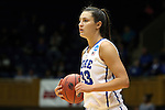 24 March 2014: Duke's Haley Peters. The Duke University Blue Devils played the DePaul University Blue Demons in an NCAA Division I Women's Basketball Tournament Second Round game at Cameron Indoor Stadium in Durham, North Carolina. DePaul won the game 74-65.