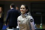 DURHAM, NC - FEBRUARY 26: Notre Dame's Lee Kiefer during the Women's Team event. The Atlantic Coast Conference Fencing Championships were held on February, 26, 2017, at Cameron Indoor Stadium in Durham, NC.