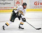 19 January 2008: University of Vermont Catamounts' defenceman Josh Burrows, a Freshman from Prairie Grove, IL, in action against the Northeastern University Huskies at Gutterson Fieldhouse in Burlington, Vermont. The Catamounts defeated the Huskies 5-2 to close out their 2-game weekend series...Mandatory Photo Credit: Ed Wolfstein Photo