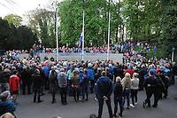 ALGEMEEN: JOURE: 04-05-2015, Dodenherdenking, Kranslegging in Park Heremastate, ©foto Martin de Jong