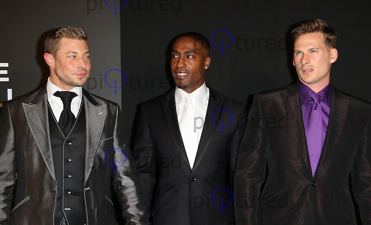 Duncan James; Simon Webbe; Lee Ryan; Blue Grey Goose Winter Ball to benefit the Elton John AIDS Foundation, Battersea Evolution, London, UK, 29 October 2011:  Contact: Rich@Piqtured.com +44(0)7941 079620 (Picture by Richard Goldschmidt)