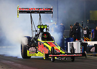 Jun 17, 2016; Bristol, TN, USA; NHRA top fuel driver J.R. Todd during qualifying for the Thunder Valley Nationals at Bristol Dragway. Mandatory Credit: Mark J. Rebilas-USA TODAY Sports