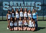 5-8-17, Skyline High School girl's varsity tennis team