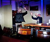 WARSAW, POLAND, NOVEMBER 2011:.Wika Szmyt, a 74 year old DJ, running a disco party, dancing with people..Wika is famous in Poland for being the oldest DJ. Twice a week she runs discos at the Bolek club in Warsaw, frequented mainly by the pensioners..(Photo by Piotr Malecki/Napo Images)..WARSZAWA, LISTOPAD 2011:.DJ Wika prowadzi dyskoteke w klubie Bolek. Wika Szmyt, 74-letnia DJ jest znana jako najstarsza didzejka w Polsce. Dwa razy w tygodniu prowadzi dyskoteki w klubie Bolek, na ktore przychodza glownie emeryci..Fot: Piotr Malecki/Napo Images.***ZAKAZ PUBLIKACJI W TABLOIDACH I PORTALACH PLOTKARSKICH*** .*** Zdjecie moze byc uzyte w prasie, gdy sposob jego wykorzystania oraz podpis nie obrazaja osob znajdujacych sie na fotografii ***.