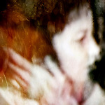 blurred profile of a woman with autumnal colors in her hair